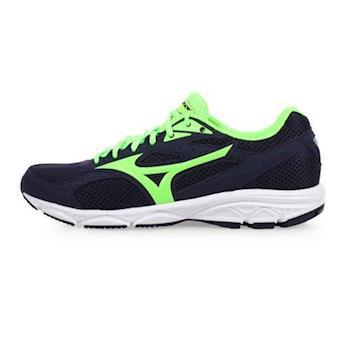 MIZUNO SPARK 3 男慢跑鞋-訓練 路跑 美津濃 深藍螢光綠