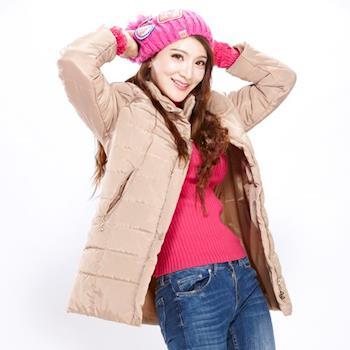 CLARE 韓版保暖連帽長外套 (二色選一)