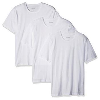 HUGO BOSS 男時尚純棉白色圓領短袖內衣3件組(預購)