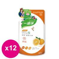楓康一滴淨蘆薈多酚洗潔精-柑橘植萃 800gX12包