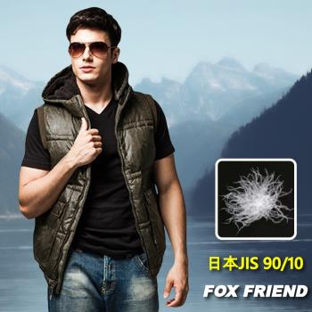 【FOX FRIEND】男款個性羽絨背心 #0161