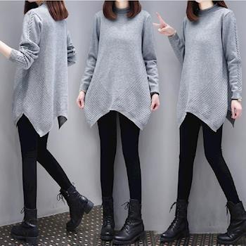 (現貨 預購 RN-girls)-【CH17312】甜美時尚純色長袖針織衫毛衣長上衣-,