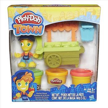 任-【 Play-Doh 培樂多黏土 】城市系列 - 交通工具組 - 水果攤車