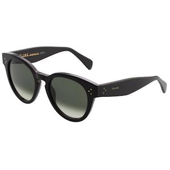 CELINE-復古款 圓框 太陽眼鏡 (黑色)CL41049S