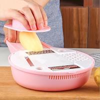 PUSH!廚房用品 防切手多功能磨碎沫刨絲器切絲切片切菜器(嬰兒輔食)D101