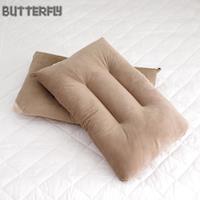 【BUTTERFLY】可水洗彈性枕-棕 快乾滴水網布設計 台灣製造 二入組