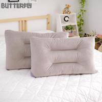 【BUTTERFLY】可水洗彈性枕-灰 快乾滴水網布設計 台灣製造 二入組