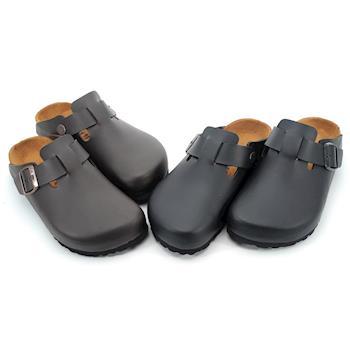 【 101大尺碼女鞋】MIT前包後空專利舒適鞋墊便利柏肯懶人休閒鞋-黑色/咖啡色-0611072325-03 男女同穿甜蜜蜜