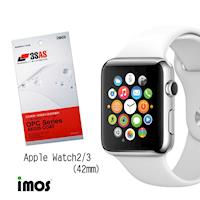 imos Apple Watch 42mm第三代 超抗撥水疏水疏油效果保護貼-兩入