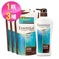 逸萱秀 瞬效水潤易潔淨洗髮乳700ml+補充包550ml(3入)