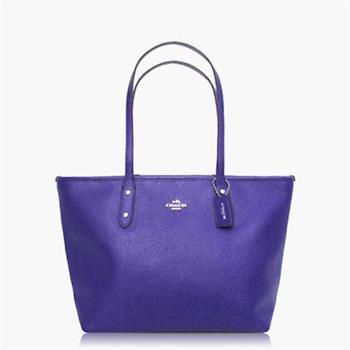 COACH 實搭耐用 皮革 / 手提 / 肩背托特包 紫色