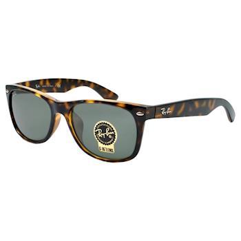 【Ray Ban雷朋】2132F-902-58 亞洲版型太陽眼鏡(琥珀框綠鏡面)