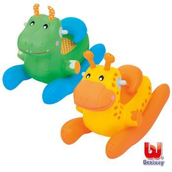 Bestway。動物造型充氣搖搖椅-恐龍/長頸鹿(隨機出貨)