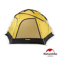 Naturehike 雲洞210T戶外防水野營六角帳篷4-8人 贈地席 黃色