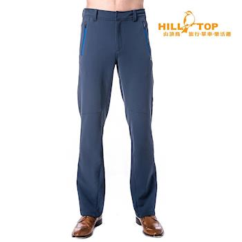 【hilltop山頂鳥】男款超撥水保暖彈性長褲H31MK4夜藍