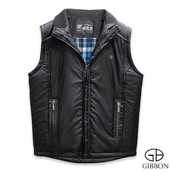 GIBBON 輕暖時尚鋪棉背心‧黑色M-XXL