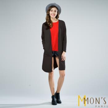 MONS法式長版口袋時尚針織外套/罩衫