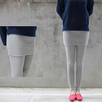 BubbleCoCo 韓國東大門雙層優質棉假兩件包臀裙褲  LB75