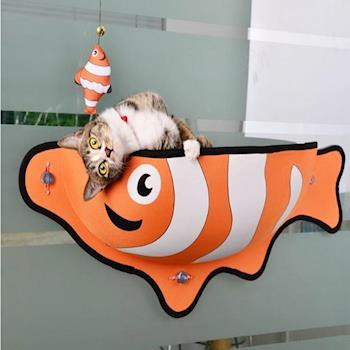 日本設計-魚形貓吊床