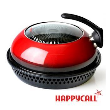 韓國HAPPYCALL無煙去油熱循環免翻面直火蒸烤鍋