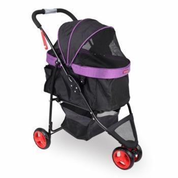 沛德奧Petstro寵物推車-308P午後派對 (黑紫色/棕色白點)