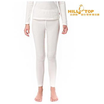 【hilltop山頂鳥】女款Thermolite吸濕衛生褲H57F45白