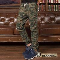 【Dreamming】數位迷彩鬆緊抽繩束口休閒長褲(軍綠)
