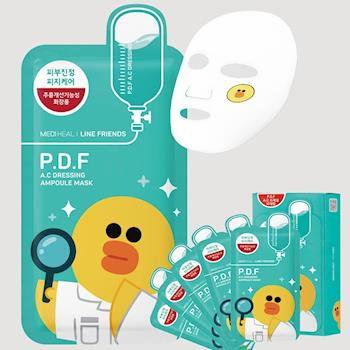 MEDIHEAL美迪惠爾 LINE FRIENDS 莎莉高效舒敏淨膚保濕導入面膜10片/盒(有效期2018/9月)