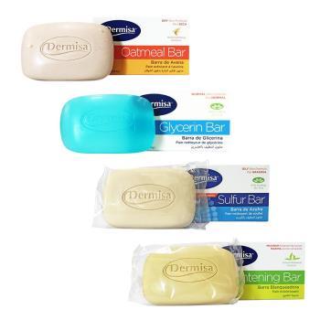 DERMISA 美國嫩白皂/粉刺淨膚皂/去角質燕麥皂/保濕甘油皂 85g
