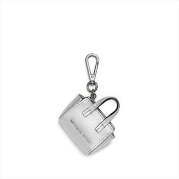 MICHAEL KORS 冬季銀白色 波士頓女包造型立體吊飾鑰匙圈/鎖圈小包