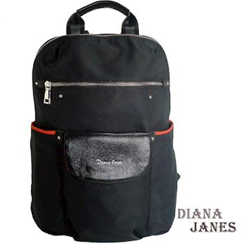 【Diana Janes 黛安娜】韓版風暴 1+1袋鼠尼龍配皮多功能後背包