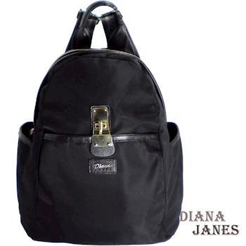 【Diana Janes 黛安娜】韓版輕量都會時尚尼龍配皮三用後背包