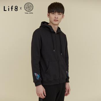 Life8 x Daniel Wong。經典繡花刷毛連帽外套-MIT-03645