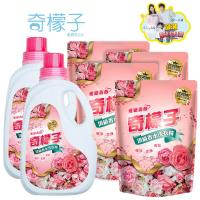 奇檬子 愛戀薔薇頂級香水洗衣精2000mlx2+補充包1800mlx4