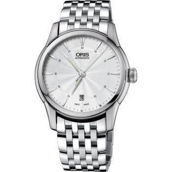 ORIS豪利時 Artelier Date 藝術家經典機械錶 銀 40mm
