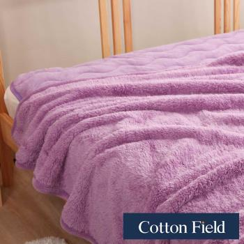 棉花田 羊羔絨 超細纖維超柔暖隨意毯-薰衣草