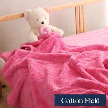棉花田 羊羔絨 超細纖維超柔暖隨意毯-蜜桃粉
