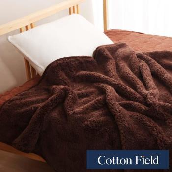 棉花田 羊羔絨 超細纖維超柔暖隨意毯-可可色