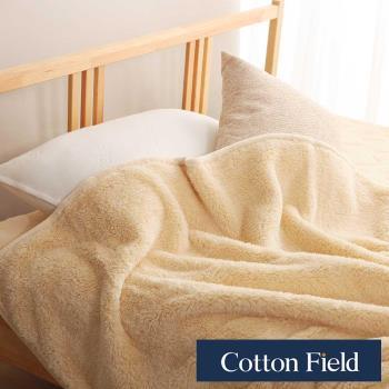 棉花田 羊羔絨 超細纖維超柔暖隨意毯-奶油色