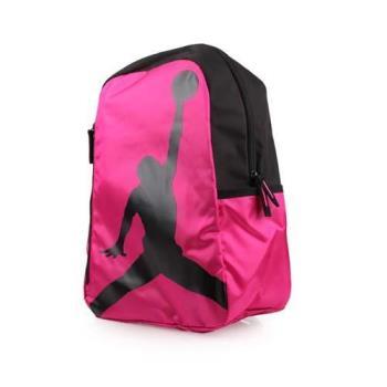 NIKE JORDAN ISO 後背包-雙肩包 旅行包 籃球 飛人喬丹 桃紅紫