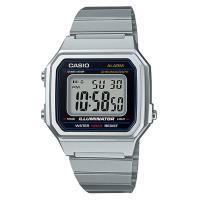 【CASIO】復古文青大顯身手電子錶-銀 (B-650WD-1A)