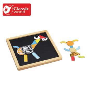 【Classic world 德國經典木玩客來喜】木製形狀拼圖