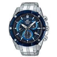【CASIO】EDIFICE 優雅公子復古不鏽鋼錶-黑X藍 (EFR-559DB-2A)