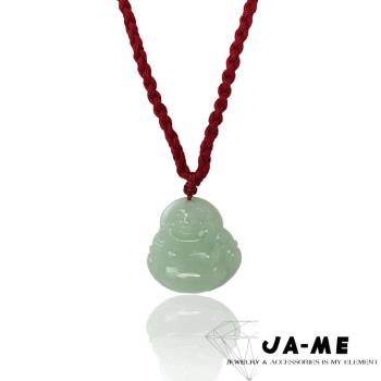 JA-ME天然A貨翡翠芙蓉種彌勒佛項鍊(隨機)