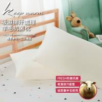 伊柔寢飾 MIT台灣製造 吸濕排汗處理/三效機能 / 羊毛抗菌枕 1入