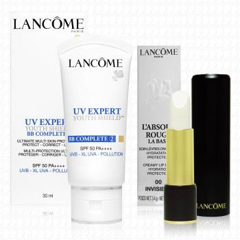 LANCOME蘭蔻 超輕盈UV BB霜30ml+絕對完美護唇膏3.4g