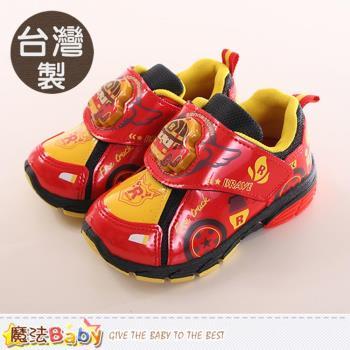 魔法Baby 童鞋 台灣製POLI正版羅伊款閃燈運動鞋~sa71262