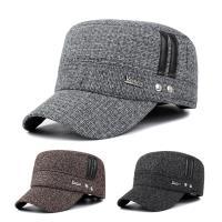 活力揚邑 - 護耳平頂帽保暖防風加厚刷毛棒球帽鴨舌帽