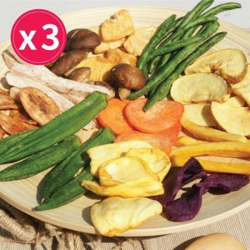 [五桔國際] 綜合蔬果脆片 500g/罐 X3罐入