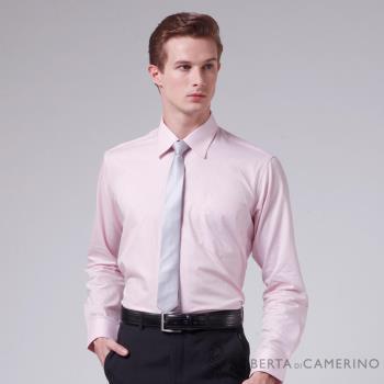 【ROBERTA諾貝達】進口素材 台灣製 純棉簡約條紋長袖襯衫粉色